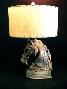 HORSEHEAD LAMP 23 IN H