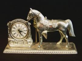 METAL HORSE CLOCK