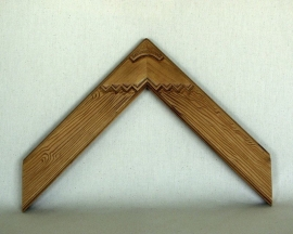 Carved Wood Grain with Deco corner , No. 51-2.5 inches wide