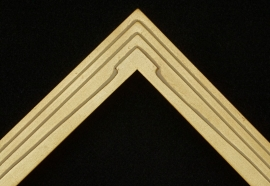 Art Deco Gold Step 1.75 inches wide