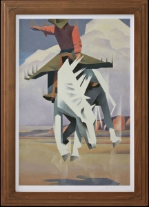Ed Mell Signature Frame & Print1 Hand Carved, Wood Finish 38 x 28.5 $1,650.00 Shipping Additional