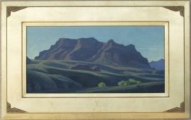 Ed Mell Mountain Shadows 2005 10 x 20 oil on board $6,000.00