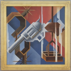 Ed Mell Smok'n Iron and Spurs 30 x 30 Oil on canvas $23,300.00.