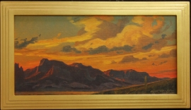 Ed Mell, Oil on panel, 10x20 inches, $6,100.00