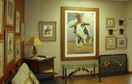 """Framed actual size of """"This Palomino Ain't No Pal of Mine,"""" Archival Pigment Print, 54 x 36 inches, 70 x 51.5 framed $5,500.00, Unframed: $3,750.00"""