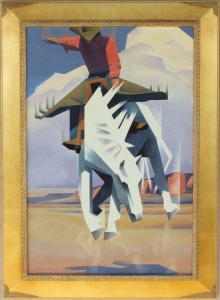 This Palomino Ain't No Pal of Mine, oil on canvas, 36 x 24 inches. Call for pricing.