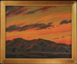 White Tanks Sundown, 24 x 30 inches Frame 29 x 35 inches Oil on canvas, $18,000.00. Offers considered, please contact gallery.