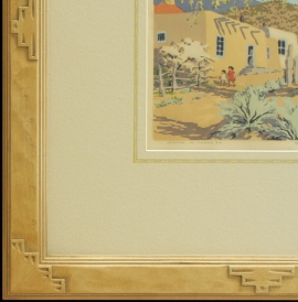 New Mexican corner with hand applied French lines