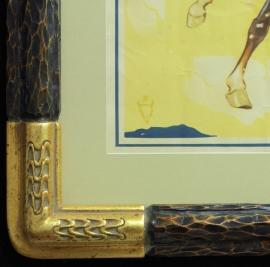 Vintage Rodeo Poster Hand carved and gilded frame gilded frame