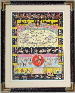 Evolution of the Cowboy 1933, 31x25 inches Framed 41x33 inches