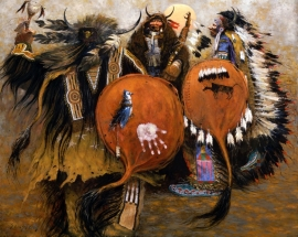 Buffalo Shields Greg Singley Oil on canvas 48 x 60 inches Price on Request
