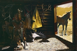 Tack Room Greg Singley Oil on Canvas 32 x 48 inches Price on Request