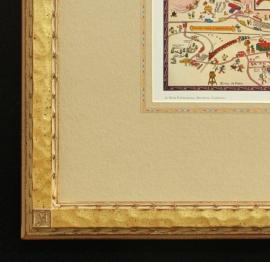 Grand Canyon Map, Jo Mora Frame Detail