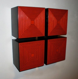 Kevin Irvin Red Maze Box