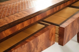 Kewazenga Console Table Detail of drawers