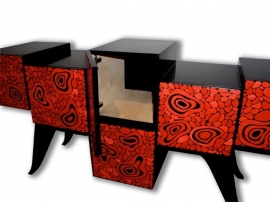 Kevin Irvin Lava Console Detail