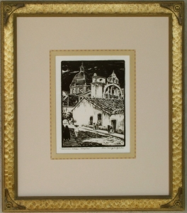 Cuernavaca ca. 1920s Block-print 9 x 6.75