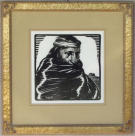 Hopi (Medicine Man) Block-print 11 x 11 Lon Megargee