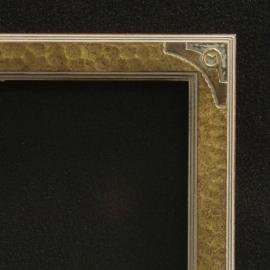 Lon Megargee Signature Antique Gold Frame Circle M 1.5 Wide