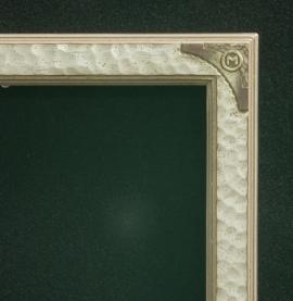 Lon Megargee Signature Warm Silver Frame Circle M 1.5 Wide