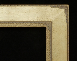 Megargee Gold Custom Carved Corner Circle M Inset 4 inches wide
