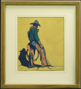 The CowPunch Giclée Framed 29x26.25 $850.00 Shipping Additional