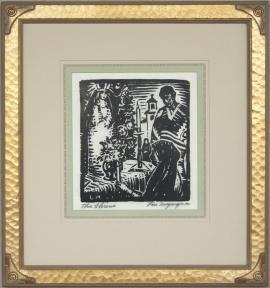 The Shrine ca. 1920s Block-print 9.25 X 8.25, price on request.