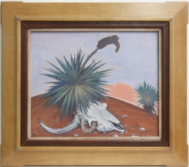 Long Time Gone, Casein on board ca 1950 20x 24.25 inches $13,000.00