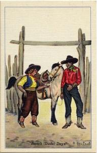 5 Ranch(Dude) Days Postcard Series