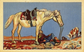 8 Little Joe the Wrangler Postcard Series