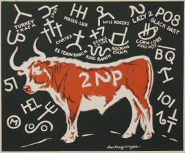 2 Lazy 2P Serigraph 20 x 24, ca. 1940, Unframed $675.00, Shipping additional.