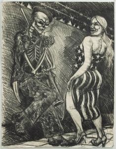 Coscolina Con Puerto (Flirt With Death), Stone Lithograph 1986 26.75 x 21 inches $6,000.00