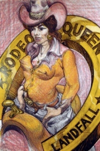 Rodeo Queen, Stone Lithograph 42.5 x 29 in. Call for availability.
