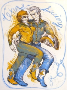 Texas Swing, Stone Lithograph 24 x 18 inches, $2,900.00