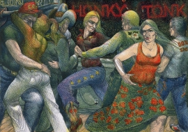 Honky Tonk, Stone Lithograph 1982 35 x 50 inches Price on Request
