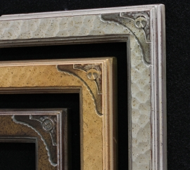 Dixon Signature 1 3/4 Inch Drawing Frames Gilded in Gold and Silver Leaf Finishes