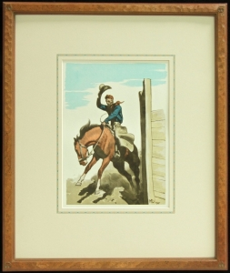Maynard Dixon, Coming Out, Hand finish frame with Dixon Logo Thunderbird Corner, 23.5 x 19 inches, archival framing, French lines. $985.00 for the matching pair. Two week Lead time, SHIPPING $50.00.