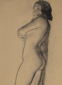 Maynard Dixon Nude 1933 Charcoal 25 x 11.75 inches $15,000.00