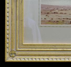 Maynard Dixon Watercolor with Dixon custom frame and French matting