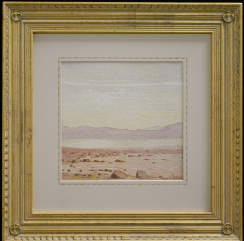 Maynard Dixon Watercolor with Dixon custom frame and French matting, Private Collection