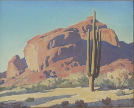 Maynard Dixon oil 16 x 20 inches with original hand carved Dixon Signature Frame