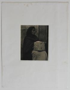 Woman - Patzcuaro, Paul Strand 1933, 1940 Edition of 250, 15.75 x x12.25, image size 6 7/16 x 5 1/8 inches, Price $950.00