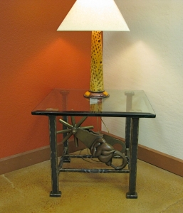 End Table with Spanish Spur, Snake Motif