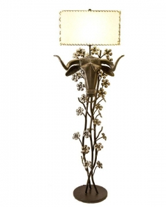 Ferdinand the Bull Floor Lamp 62H x 22W x 13D Hand forged steel $4,700.00