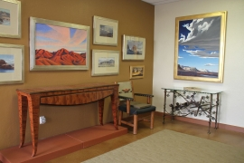 Ed Mell art, Kivn Irvin and Rick Merrill furniture