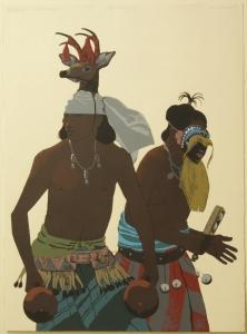 The Yaqui Deer Dancer, Louis De Mayo, Serigraph, Printer Proof. 30.25x22.25 inches $1,100.00