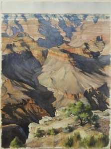 Late Afternoon at the Grand Canyon, Yvonne Johnson, Watercolor, 30 x 22.50 inches,1989. $1,950.00