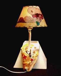 CERAMIC WAL L HANGING SCONCE LAMP 15 IN H
