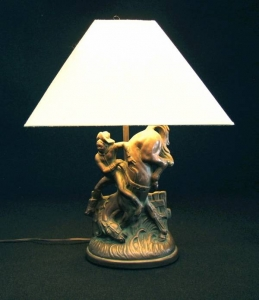 COWBOY LAMP 22 IN H $200.00 Inquire about the many others we have