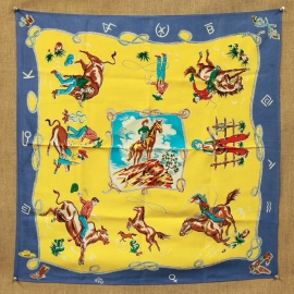 MINT WESTERN MOTIF SCARF, BLUE Inquire about the many others we have